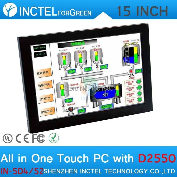 Dernier écran tactile de panneau de LED de 15 pouces tout en un windows POS ordinateurs double 1000 Mbps Nics 4G RAM 64G SSD 500G HDD - 6