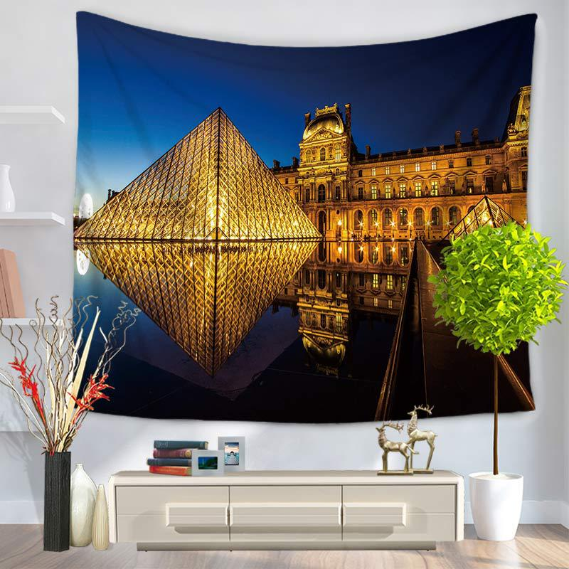 Bohemian Tapestry Modern Famous Architecture Printing Wall Hanging Tapestries Room Wall Decoration Beach Towel Yoga Mat