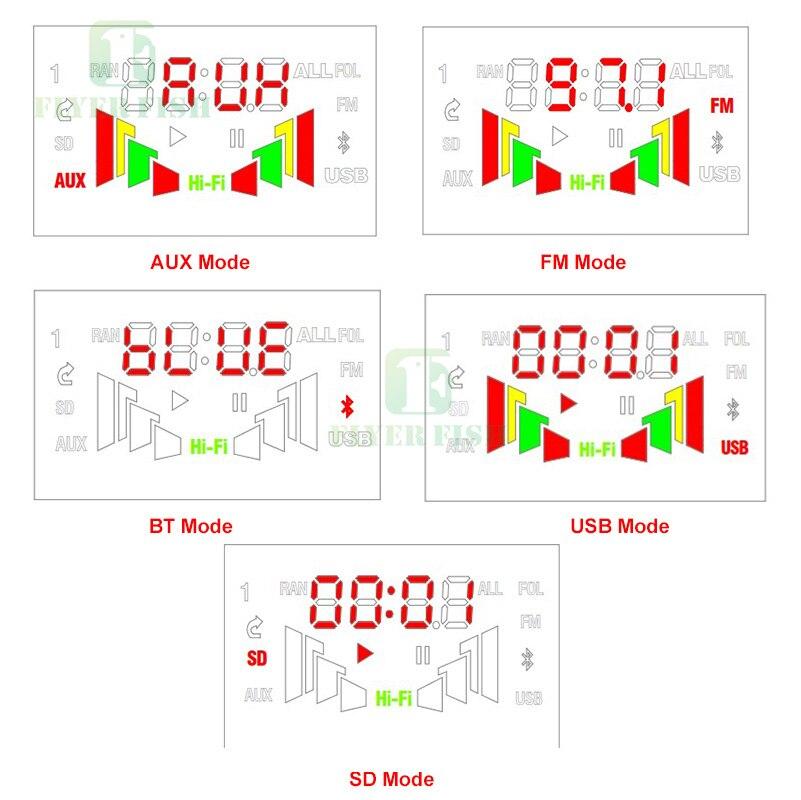 Image 5 - Bluetooth led música áudio indicador de espectro ape mp3 placa nível indicador vu medidor velocidade flac wma receptor fm módulo app no carroCircuitos integrados   -