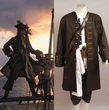 Pirates Of The Caribbean Jack Sparrow Jacket Vest Belt Shirt Pants Cosplay Costume For Adult Men