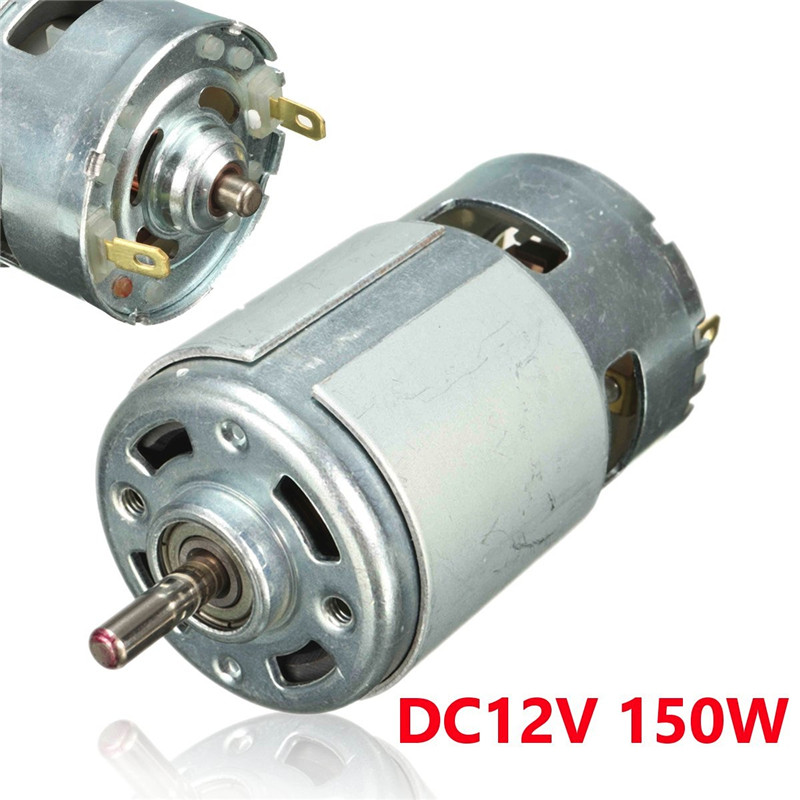 DC 12 V 150 W 13000 ~ 15000 RPM 775 motor de alta velocidad de motor DC motor eléctrico herramienta eléctrica maquinaria