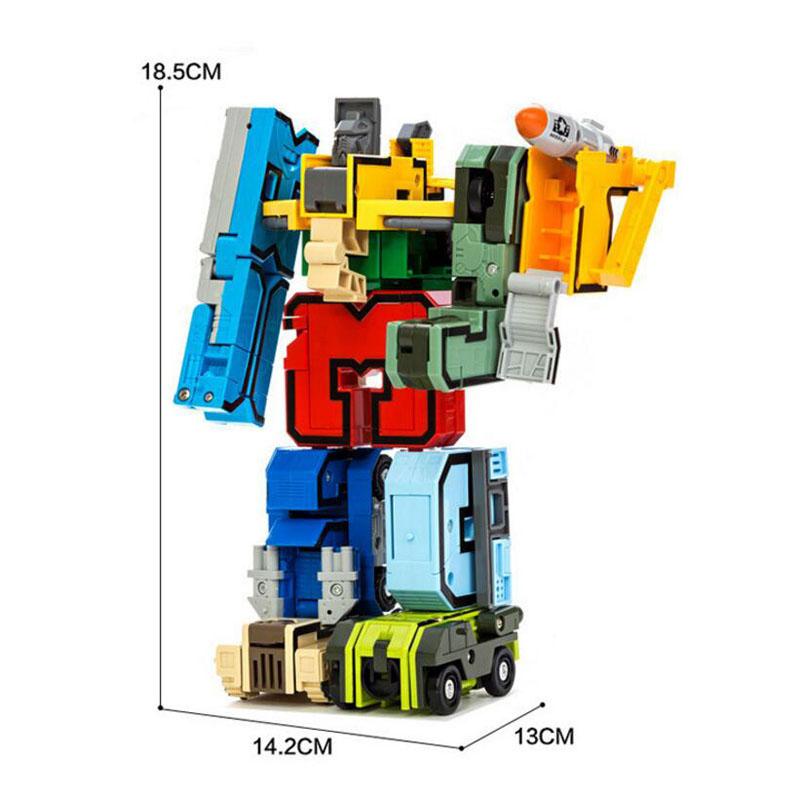 10 шт. творческий номер сборки развивающие конструкторы фигурку трансформация робот автомобиль самолет деформироваться подарок игрушечные лошадки для детей