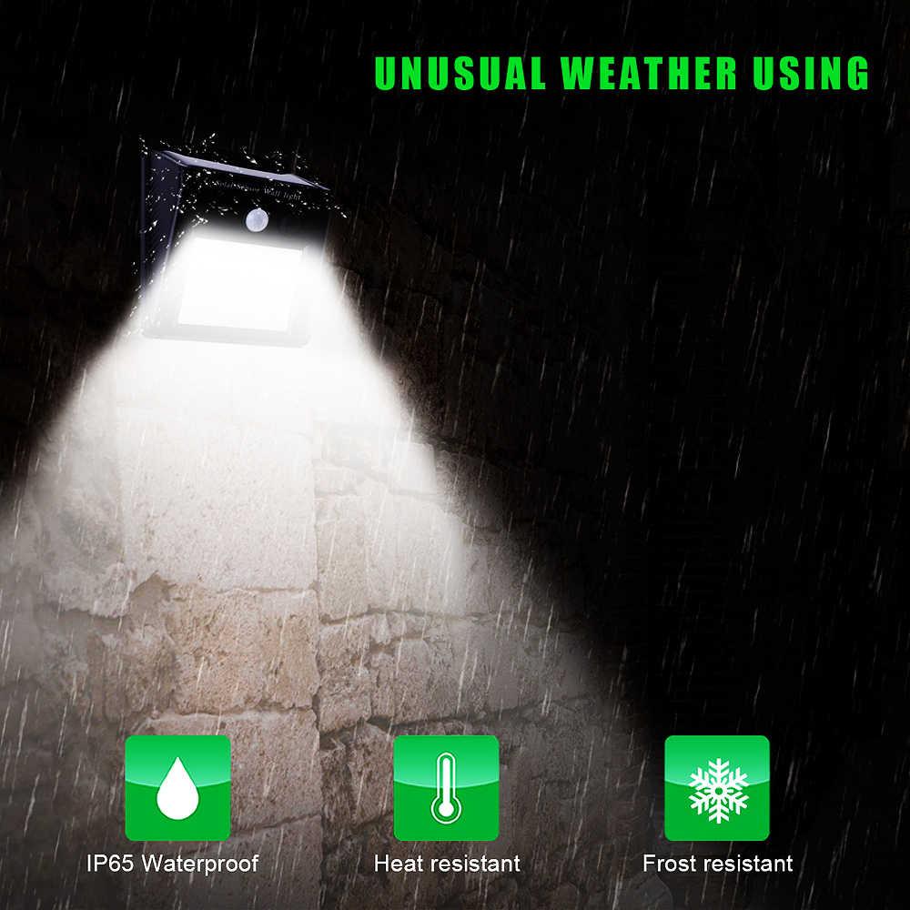 30/118 светодиодный светильник на солнечных батареях PIR датчик движения перезаряжаемый Настенный светильник водонепроницаемый энергосберегающий открытый сад лампы для двора