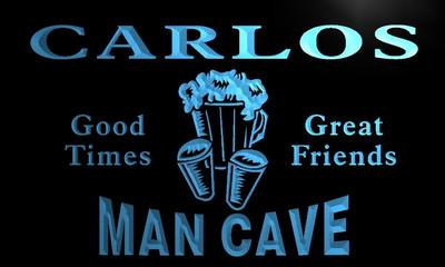 x0081-tm Carlos Man Cave Bar Custom Personalized Name Neon Sign Wholesale Dropshipping On/Off Switch 7 Colors DHL