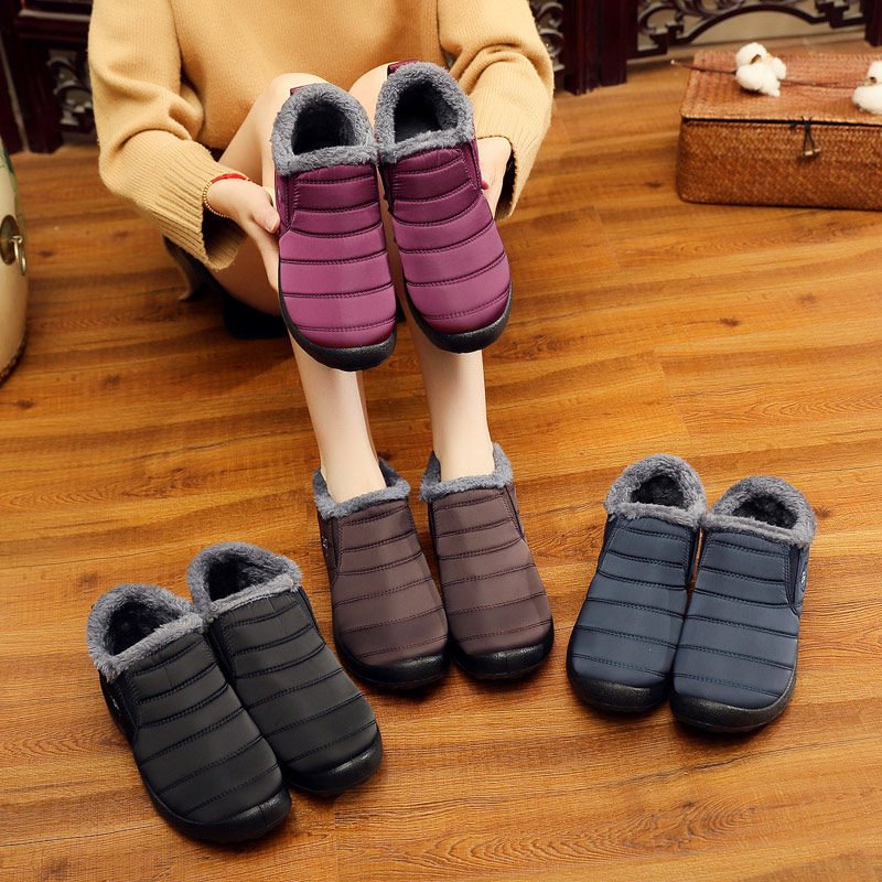 KHTAA Waterproof Female Shoes Winter Ankle Boots Snow Boots
