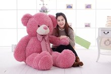 huge 160cm pink teddy bear plush toy bowtie bear doll,soft hugging pillow, birthday gift Xmas gift d2495