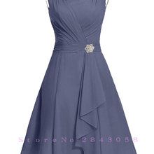Waulizane Elegant Chiffon A-Line Prom Dresses Zipper Sleevel