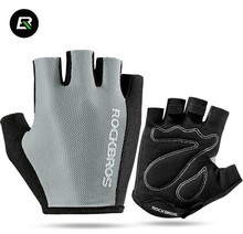 ROCKBROS Breathable MTB Road Bicycle Gloves Sports Cycling Equipment Men Women Cycling Bike Half Short Finger