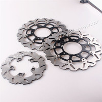 1 Set Motorcycle Front Rear Brake Disc Rotors For Suzuki 2006 2007 GSXR 600 750 2005