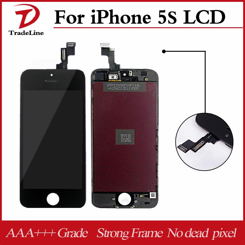 Prix pour Rapide dhl gratuite pour ecran iphone 5s lcd assemblée 10 pcs pas de dead pixel pour iphone 5s lcd écran