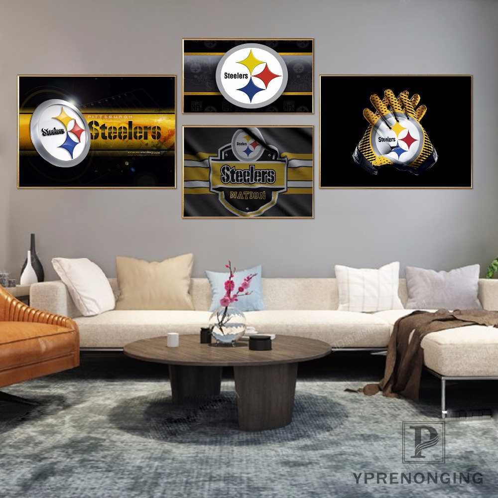 Custom Pittsburgh Steelers Home Decor Canvas Printing Silk Fabric Print Wall Poster No Frame 180317