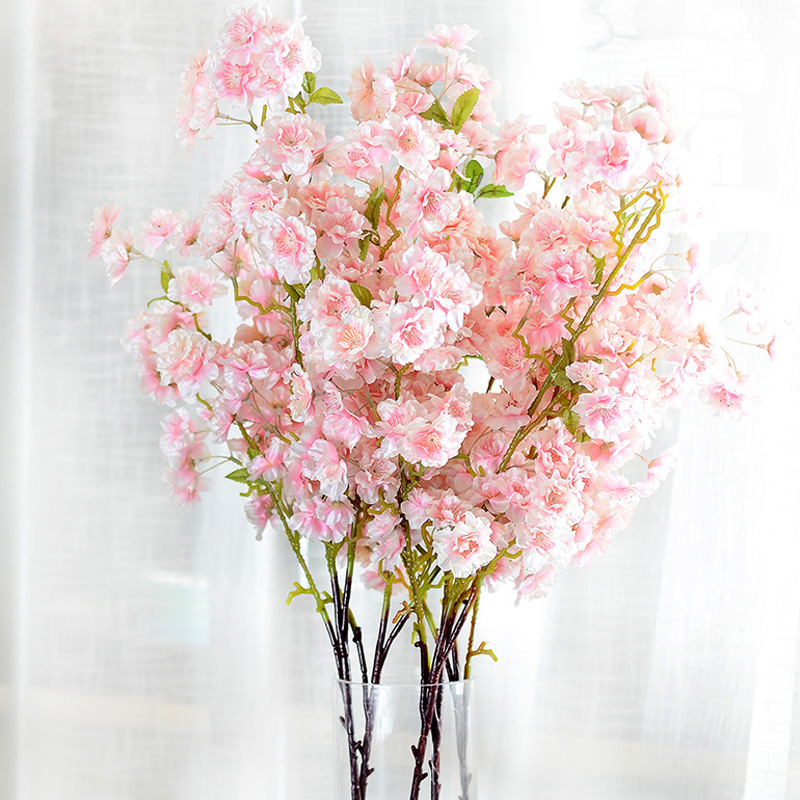 flower decoration for wedding reception.htm htmeing artificial cherry blossom with leaf cherry branches fake  htmeing artificial cherry blossom with