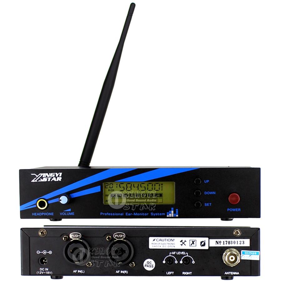 В ухо монитор Беспроводная система сценический Профессиональный UHF беспроводной контроль в наушниках три Boadypack приемник и один передатчик - 2