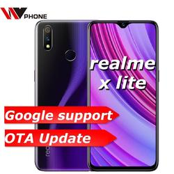 Original Oppo Realme x lite 4G LTE 4GB 64GB Snapdragon 710 Octa Core 6.3 inch Screen 4045 mAh Dual Rear Camera Cell Phone