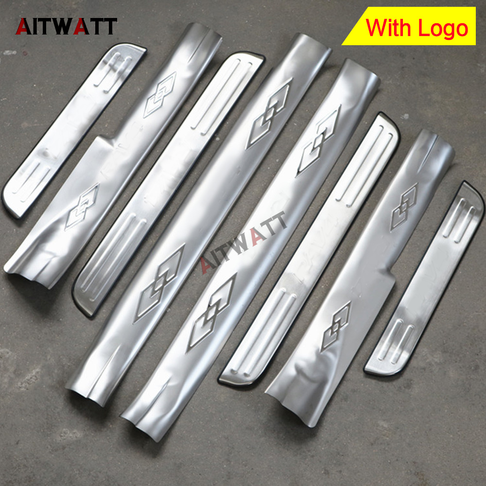 For Toyota RAV4 <font><b>RAV</b></font> <font><b>4</b></font> 2009 <font><b>2010</b></font> 2011 2012 Stainless Steel Door Sill Protector Pedal Scuff Plate Cover Trim Car Styling 4Pcs image