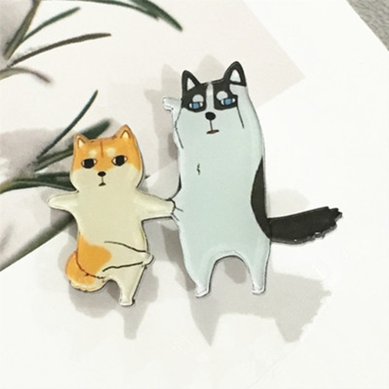 Lapel Pins Metal Badges Fashion Jewelry Cartoon Animal Enamel Pin Button Corsage Cat Brooches Funny Bag Decor Arts,crafts & Sewing