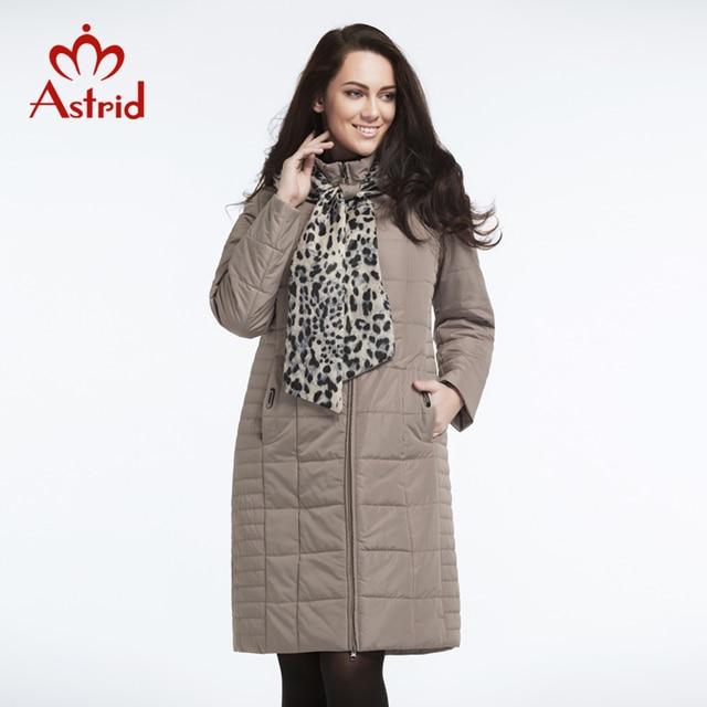 Новое поступление Астрид 2017 женское пальто больших размеров с капюшоном пуховик женский зима сплошной стеганый свободного покроя верхняя одежда демисезонная женщин укращение фигуры L-5XL AM-2606BW