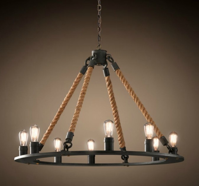 American country retro pendant light Nordic iron rope lamp bar Cafe dining room lamp nordic loft pendant light american country retro iron hemp rope pendant lights for dining room restaurant cafe ceiling lamp