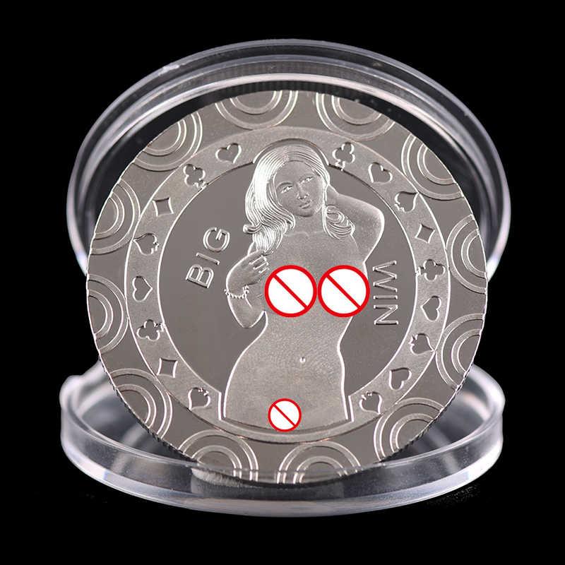 Souvenir Koin Peringatan Seni Hadiah Seksi Tubuh Wanita Keberuntungan Koleksi Kepala Menawan Koleksi Seni Hadiah