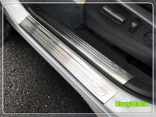 For Honda CRV 2017 2018 8pcs/set stainless steel door sill scuff plate trim car styling accessories