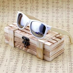 Image 4 - BOBO BIRD Bamboo Sunglasses Women Polarized Sun Glasses Man Mirror gafas de sol with Wooden Gift Box CG007 Dropshipping OEM
