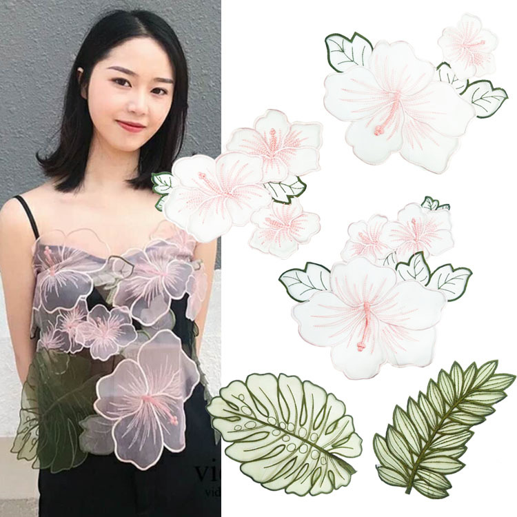 2019 New Fashion  Importados Applique Water Soluble Embroidery  Costume Decoration Flower Colorful Decals  Accessories