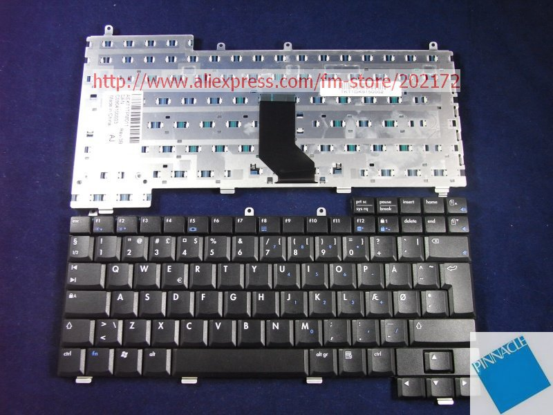 Used Look Like New Black Notebook Keyboard 317443-081 AEKT1TPM011 For HP Pavilion 2100  NX9000 1110 EV0 N1050V Series (Denmark) 574680 001 1gb system board fit hp pavilion dv7 3089nr dv7 3000 series notebook pc motherboard 100% working