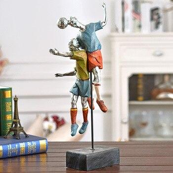 Decoración De La Sala De Fútbol | 50cm Artesanías Fútbol Cabeza Figuras Modelo Escultura Resina Fútbol Juego Estatua Ornamento Casa Habitación Decoraciones Juguete