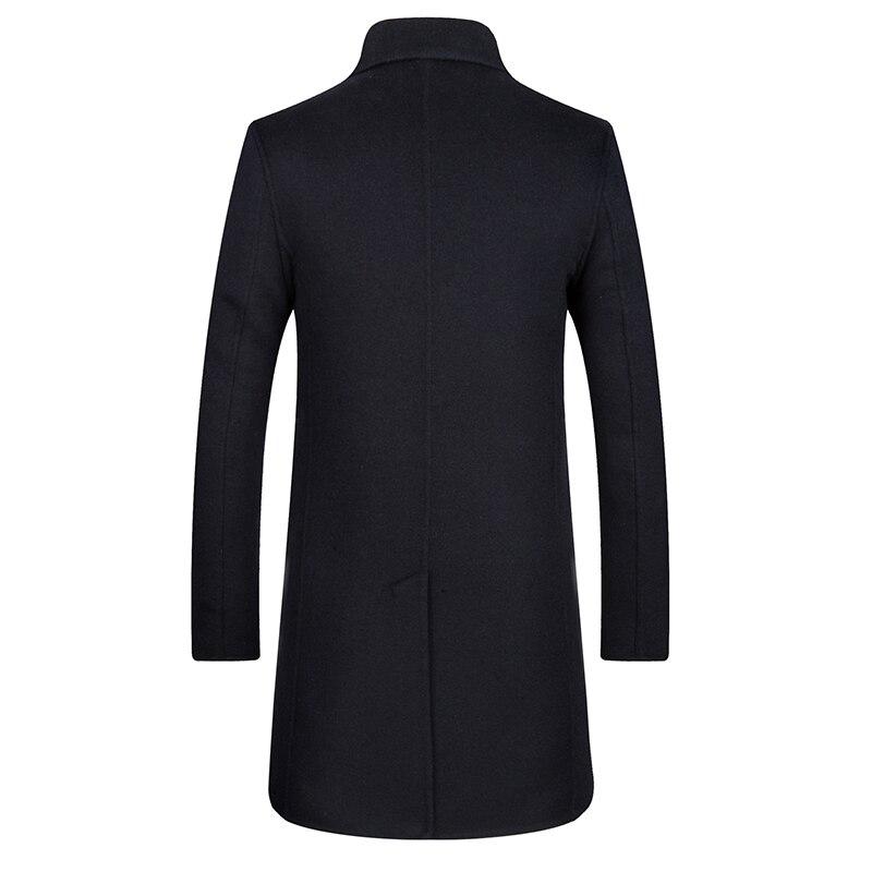 Brise Style Manteau Laine Casual 1 vent Veste Mode Survêtement Tranchée De Long 3 Pardessus Nouvelle 2 Hommes Vestes Manteaux Hiver XqSZgzzxw