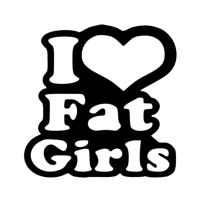 Wholesale 10pcslot 20pcslot I Love Fat Girls Vinyl Decal Car Truck