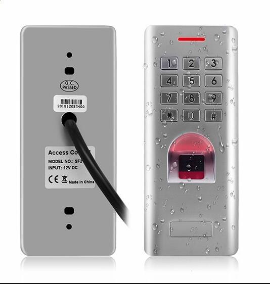 RFID étanche IP66 contrôle d'accès par empreinte digitale avec clavier Anti-Hit support carte d'identité/doigt peut comme lecteur WG26 sortie