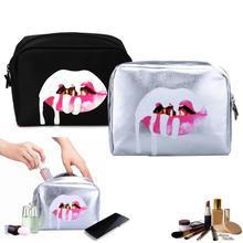 BearPaw Women Makeup Tool Kit Mouth Cosmetic Bag Waterproof