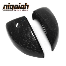 цена на For Audi A3 S3 2014 2015 2016 - UP 1:1 Replacement style Forge Carbon Fiber Rear View Mirror Cover Forge Glossy black