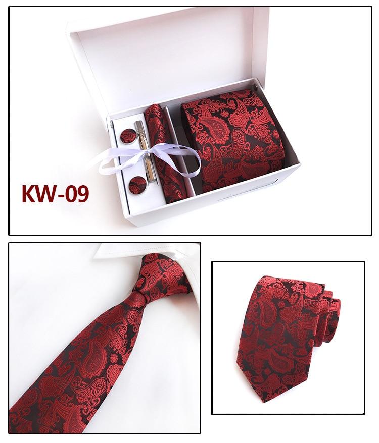 cravates de mode pour hommes cravate en soie ensemble cravates - Accessoires pour vêtements - Photo 6
