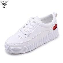 2b84a92f VTOTA новый дизайнер Повседневная кожаная обувь Женская обувь, белый цвет  кроссовки без каблука 4 см