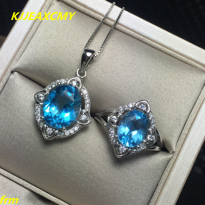 KJJEAXCMY Fine jewelry, 925 sterling silver Inlay 5k Set Topaz Stone Pendant in Sterling Silver female models setKJJEAXCMY Fine jewelry, 925 sterling silver Inlay 5k Set Topaz Stone Pendant in Sterling Silver female models set
