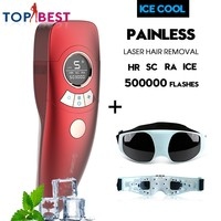 In Stock! Multifunction 4 in 1 IPL Professional ICE Cold Epilator Laser Permanent Hair Removal Body Leg Bikini Trimmer For Women