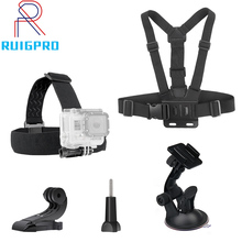 for Gopro Hero 8 7 5 4 4session Accessories Set Head Strap Chest Strap Suction Cup For Xiaomi for Yi 4 K for EKEN H9R VS69