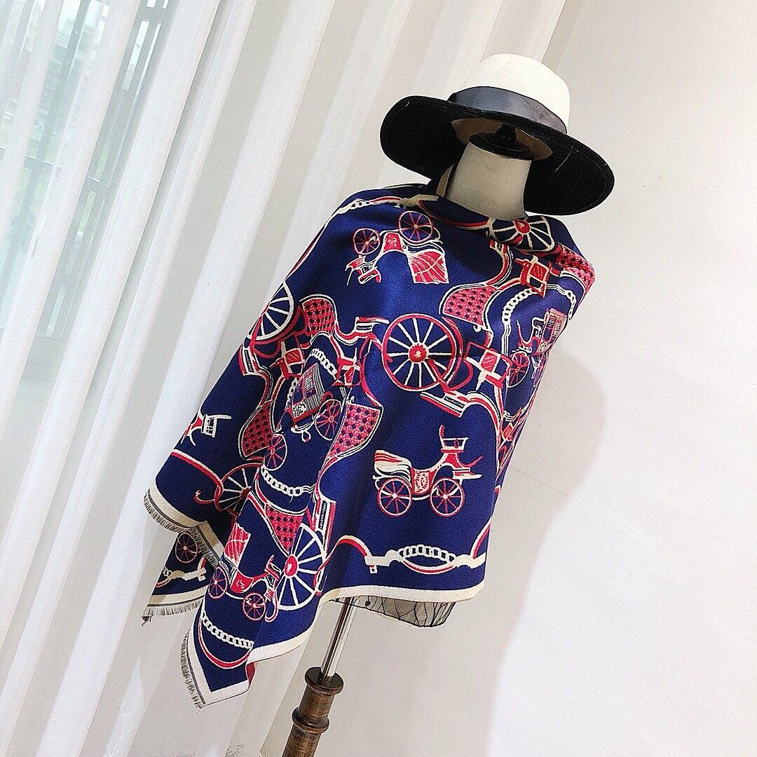 Cashmere Winter Scarf Women Vintage Brand Luxury Tree Large Blanket Warm Pashmina Luxury Brand Poncho 2018 New Designer 190x65cm