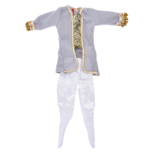 1/6 Ken Fashion Doll Clothes1 Set Boys Suit Casual Wear Plaid Outfit Pants Prince Outfits For Toys Accessories Whosesale