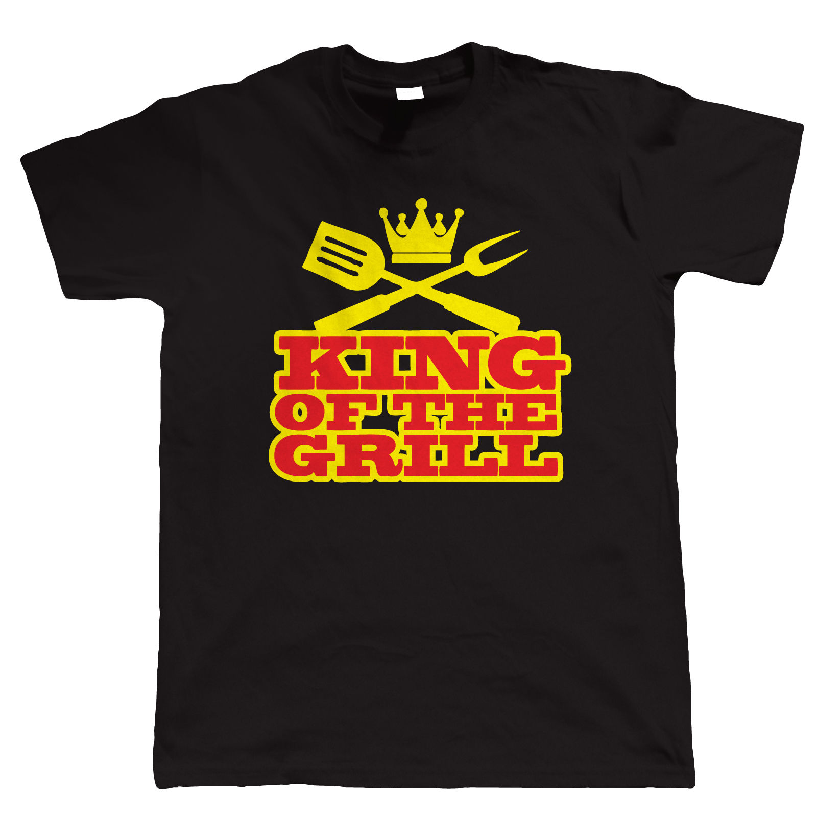 King Of The Grill Funny BBQ T Shirt, Fathers Day Birthday Gift Barbecue Smoker O Neck T shirt