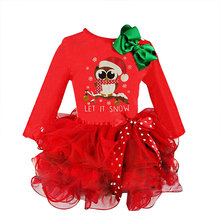 Christmas Dress Girls Snowman Winter Santa Girls for Christmas kids