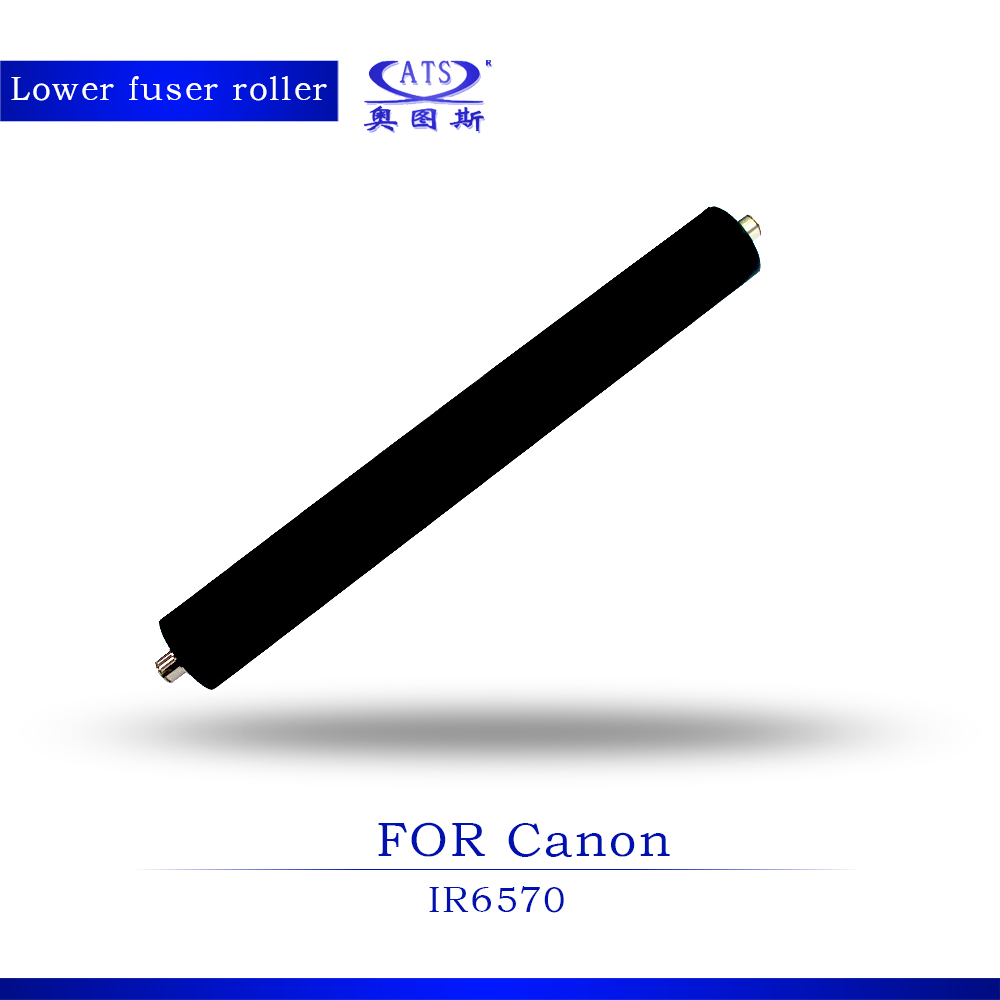 1PCS IR 6570 Pressure Roller Photocopy Machine Compatible Lower Fuser Roller For IR6570 Coiper Parts 1pcs photocopy machine lower pressure fuser roller for canon ir2018 copier parts ir 2018