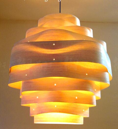 Pendant Lights Southeast Asian style restaurant simple Japanese veneer lamp Nordic solid color Pendant lamp LO72515 southeast asia chinese style wooden veneer pendant lights living room restaurant lamp dining room lights