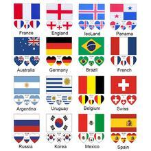 32 команды Кубок мира национальная тату наклейка Временная Бразилия Водонепроницаемая футбольная игра тело лицо татуировка на кисть