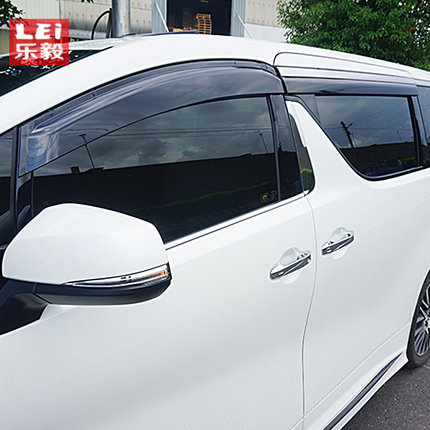 MONTFORD ABS Plastic Window Visor Awnings Vent Sun Rain Guard Shield Delflector Cover For Toyota Alphard Vellfire 2016 2017 2018 4pcs for toyota corolla 2014 2015 sun rain shield covers car awnings