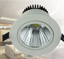 Free Shipping COB LED Downlight 10W 15W Led recessed Down Light + led driver Warranty 2 Years CE RoHS AC110-240V free shipping hot selling 6pcs 40w 2 2 led troffer light 100 277vac ce rohs listed