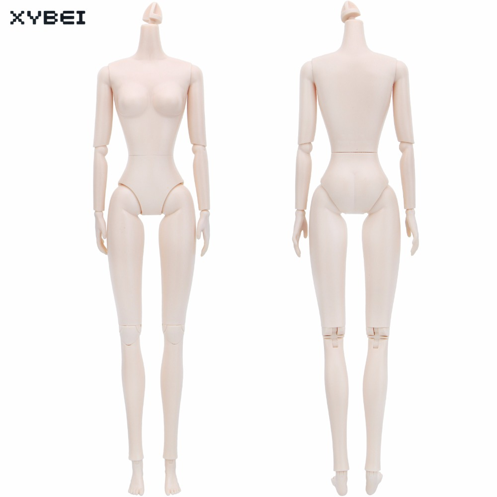 High Quality White Skin Naked Doll Body Without Head DIY Moveable Accessories For 1/6 Doll Baby Girl Kids Dollhouse Gifts Toys