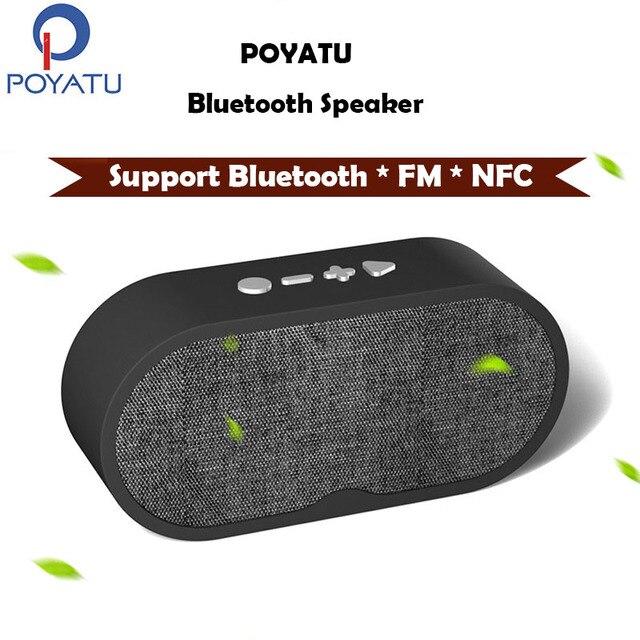 Poyatu Bluetooth Speaker Baixo Rádio Fm Alto Falantes Bluetooth
