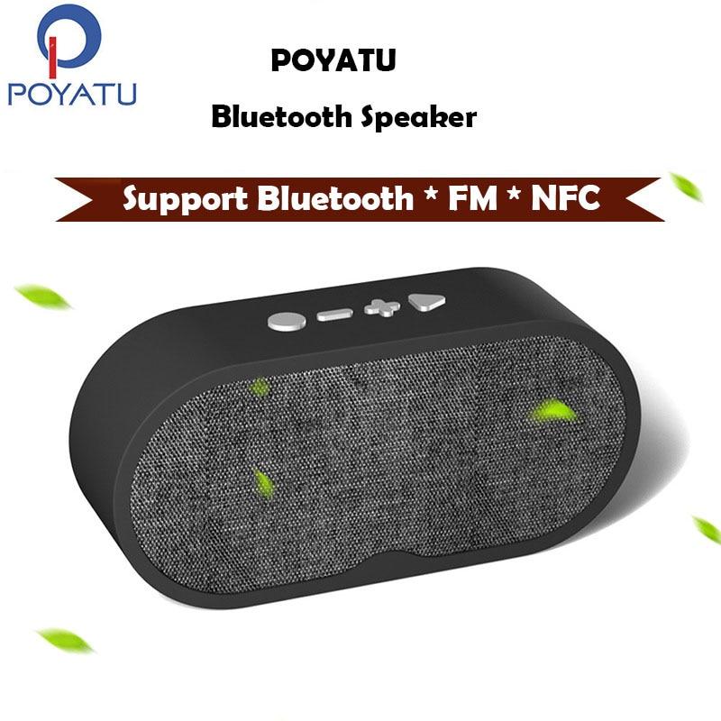 Poyatu Bluetooth Динамик fm Радио бас Беспроводной Динамик Bluetooth Колонки Портативный fm С микрофоном мини Колонки для мобильных устройств